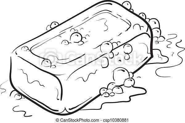 Bar of soap sketch - csp10380881