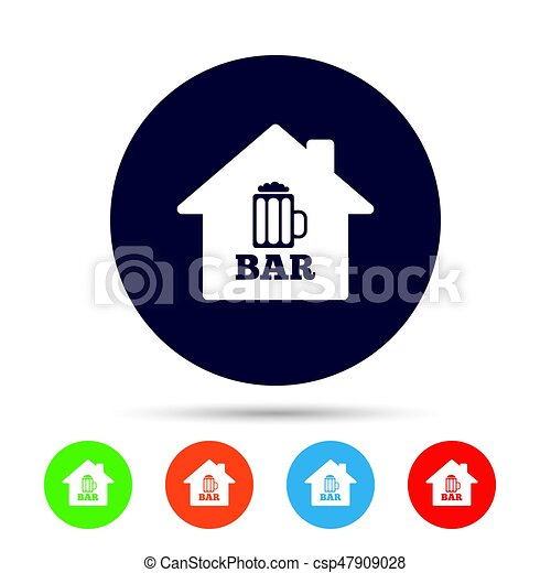 Bar Or Pub Sign Icon Glass Of Beer Symbol Alcohol Drink Symbol