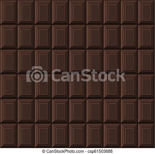 bar, pattern., seamless, chocolade, vector, zwarte achtergrond - csp61503688