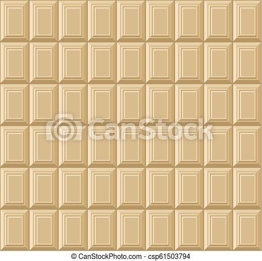 bar, pattern., seamless, chocolade, vector, achtergrond, witte  - csp61503794