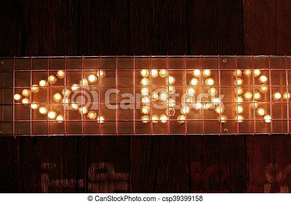 Bar sign lights with arrow bar sign lights csp39399158 aloadofball Image collections