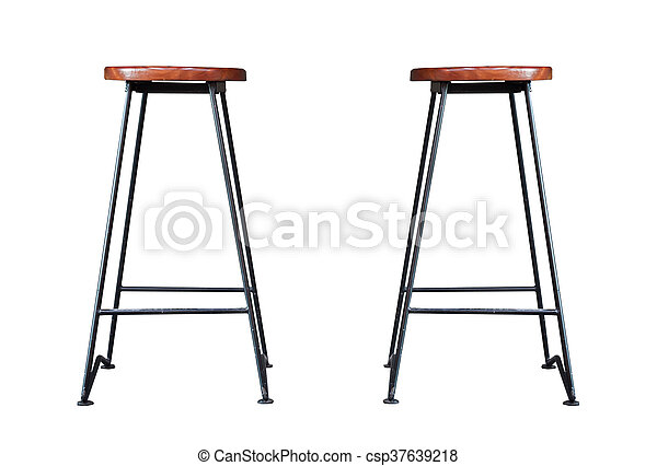 Bar stool isolated on white background - csp37639218