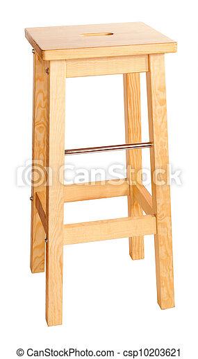 Bar stool isolated on white background - csp10203621
