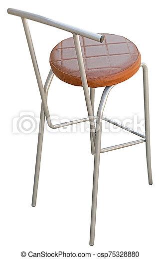 Bar stool isolated on white - csp75328880