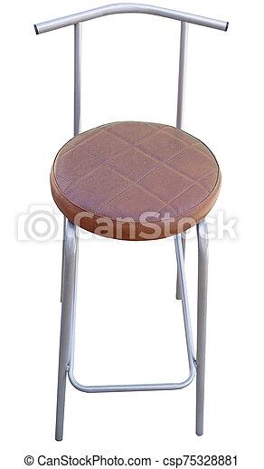 Bar stool isolated on white - csp75328881