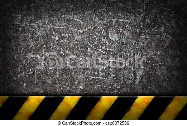 Grunge Hintergrund mit Warnriegel - csp6072536