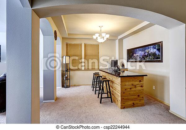 bar with aquarium luxury home interior soft ivory bar room with