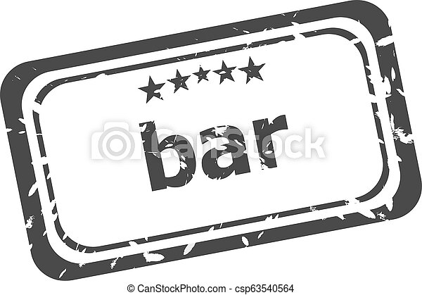 bar word on rubber grunge stamp isolated on white - csp63540564
