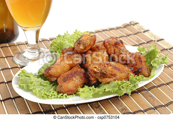 Barbecue Chicken Wings - csp0753104