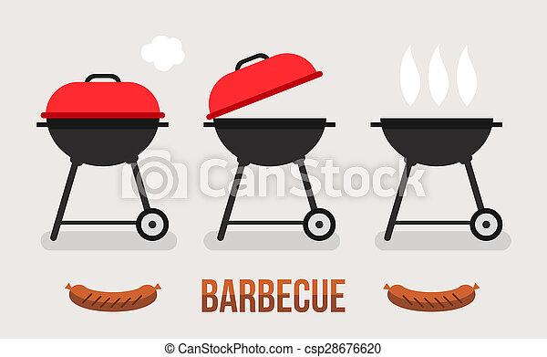 barbecue, concetto, illustrazione - csp28676620