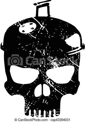 barbecue, crâne, grattements - csp43394031
