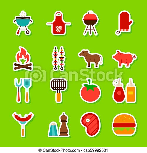 Barbecue Food Stickers - csp59992581