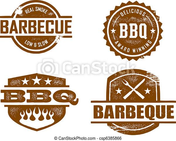 barbecue, francobolli - csp6385866