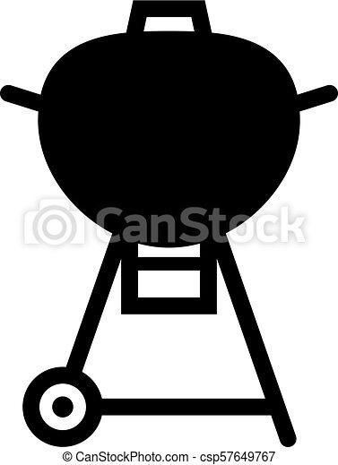 Barbecue grill icon - csp57649767