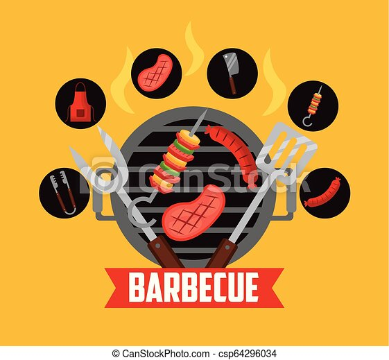 barbecue grill relate - csp64296034