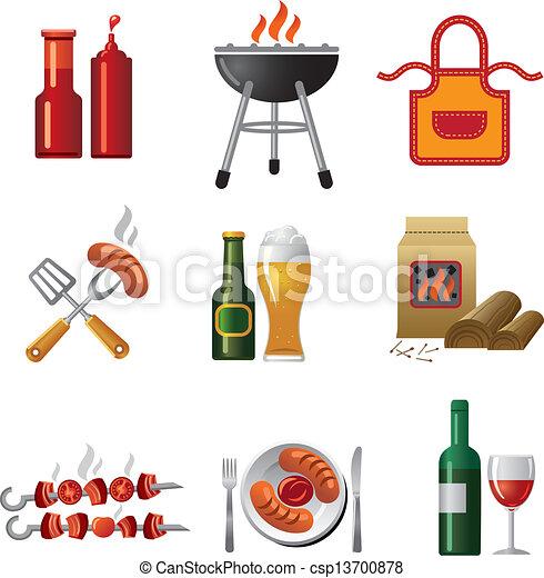 barbecue icon set - csp13700878