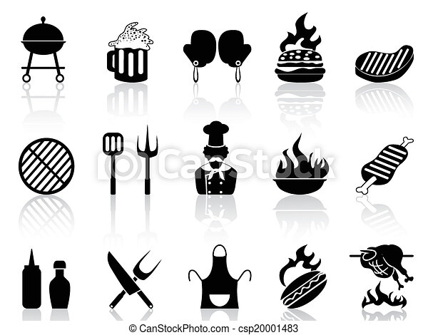 barbecue icons - csp20001483