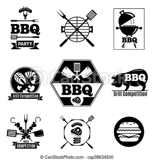 Barbecue logo set - csp38634500