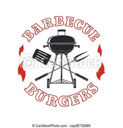 Barbecue logo template. - csp28732685