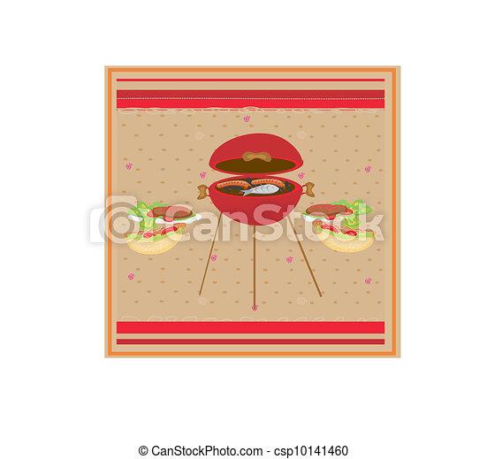 Barbecue Party Invitation  - csp10141460