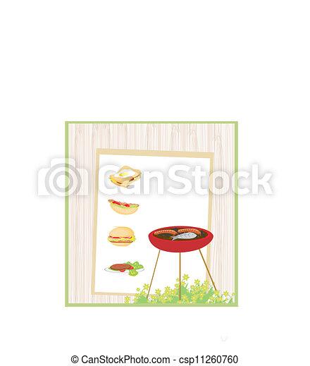 Barbecue Party Invitation  - csp11260760