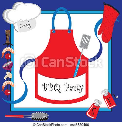 Barbecue party invitation - csp6530496