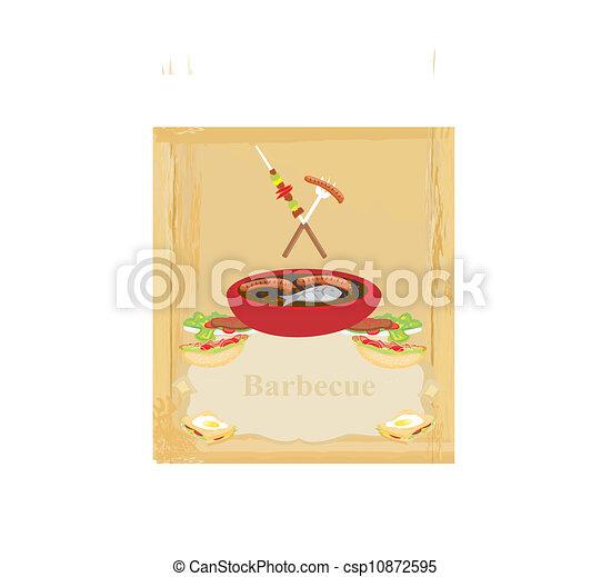 Barbecue Party Invitation  - csp10872595