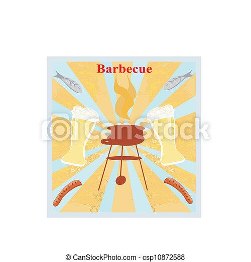 Barbecue Party Invitation  - csp10872588