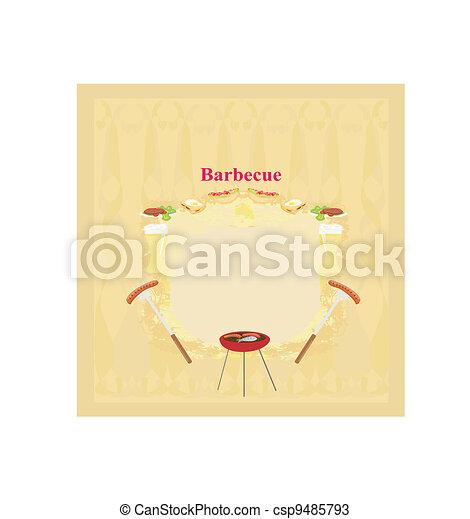 Barbecue Party Invitation - csp9485793