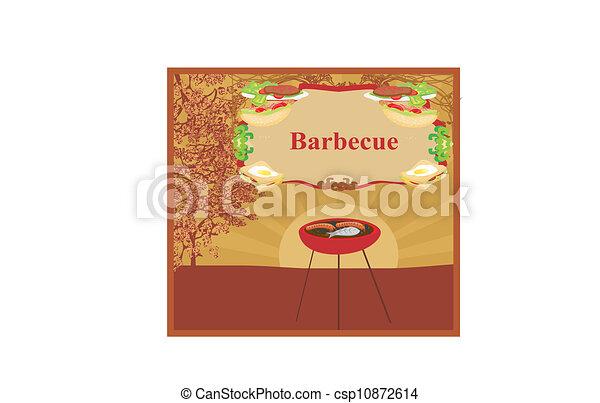 Barbecue Party Invitation  - csp10872614