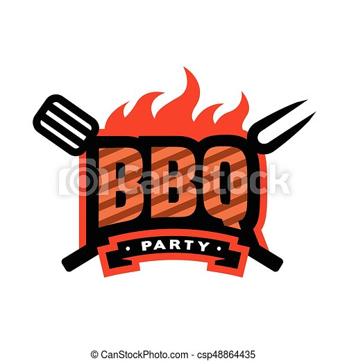 barbecue party logo emblem barbecue party bbq logo vectors rh canstockphoto com logo clip art images free logo clipart software
