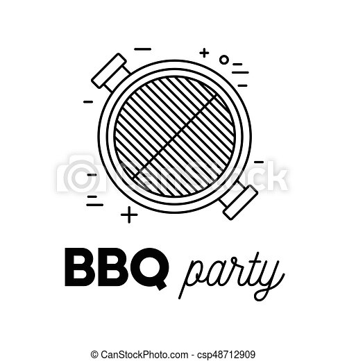 Barbecue party with grill - csp48712909