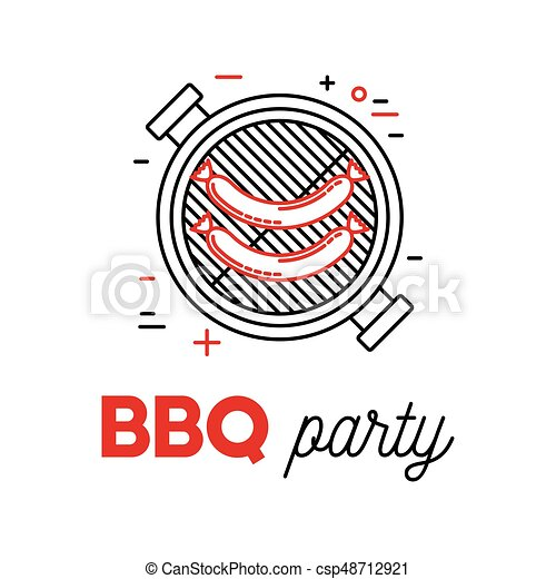 Barbecue sausage on grill - csp48712921