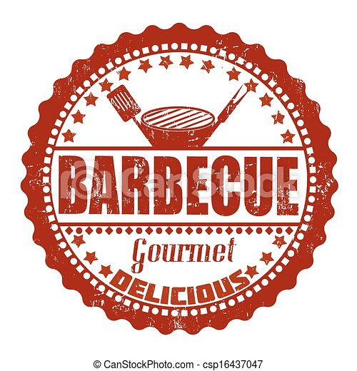 Barbecue stamp - csp16437047