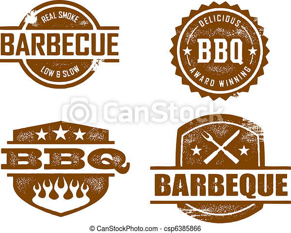 Barbecue Stamps - csp6385866