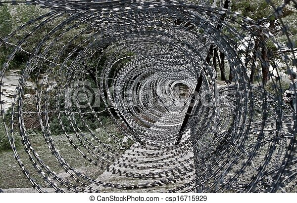 Barbed wire - csp16715929