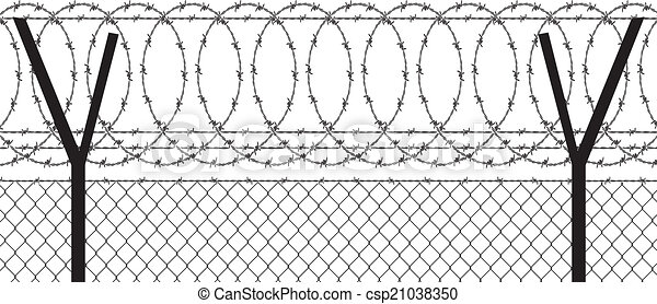 barbed wire - csp21038350