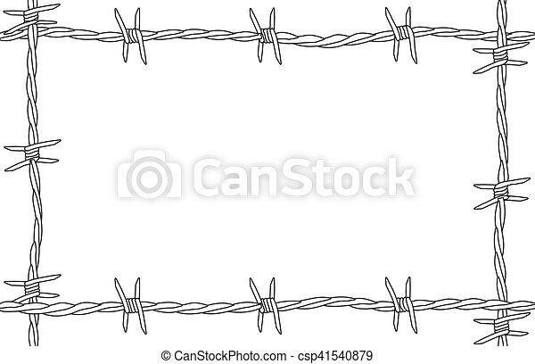 Barbed wire copy space. A barbed wire background as a page ...