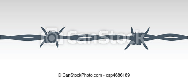 barbed wire - csp4686189