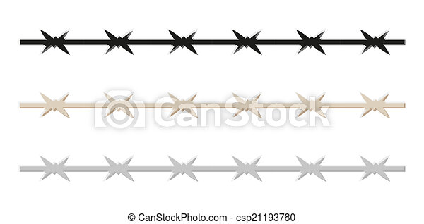 barbed wire - csp21193780