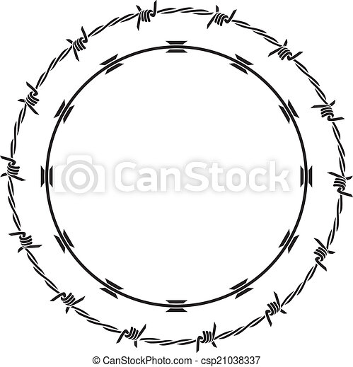 barbed wire - csp21038337