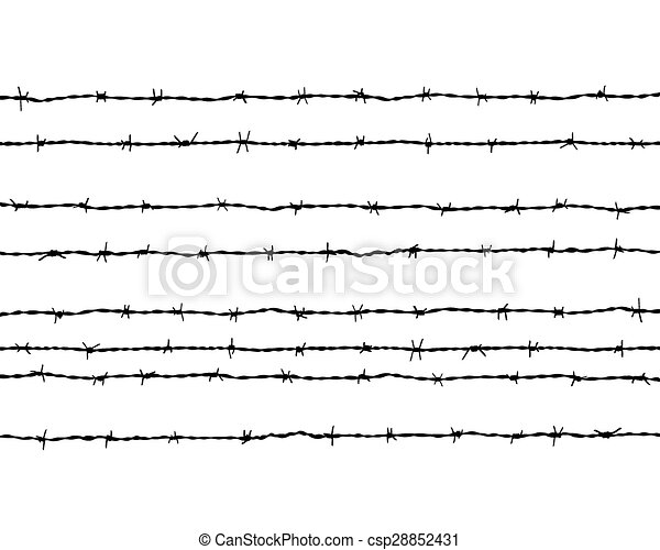 barbed wire - csp28852431
