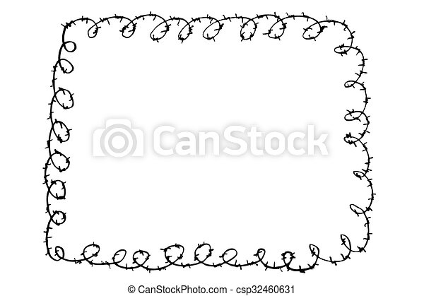 Barbed Wire - csp32460631