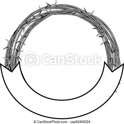 barbed wire frame - csp52400024
