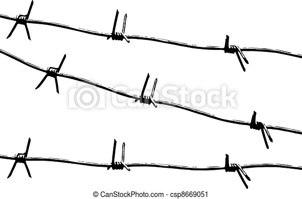 Barbed wire pattern vector. Barbed wire. black and white pattern vector.