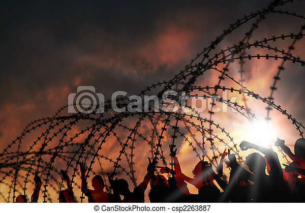 barbed wire - csp2263887