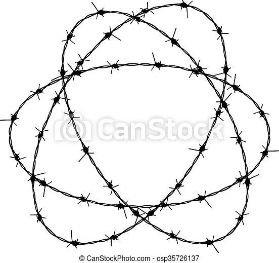 Barbed wire silhouette. Silhouette barbed wire illustration ...