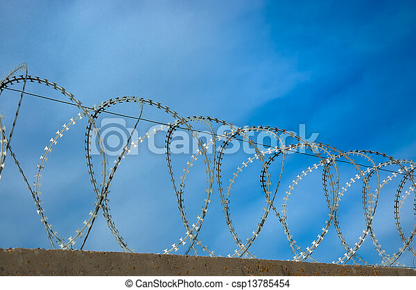 barbed wire - csp13785454