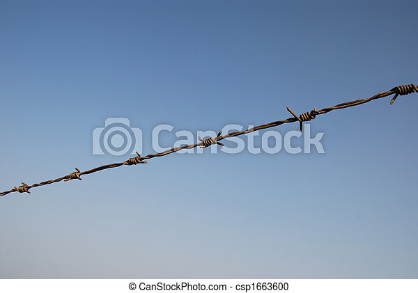Barbed wire - csp1663600
