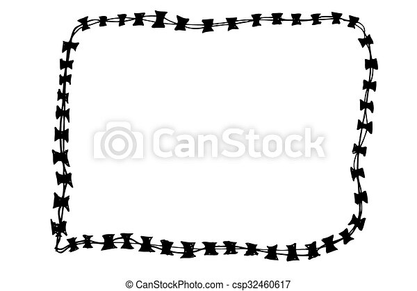 Barbed Wire - csp32460617